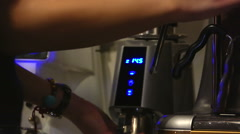 Cafe. Coffee brewing 2. Grinding coffee Stock Footage