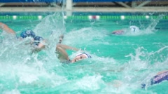 Russian women's water polo team attacks. Russia - Greece, November, 24, 2015 Stock Footage