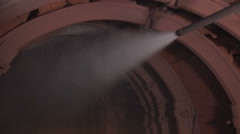 Work in the mine dust suppression system Stock Footage