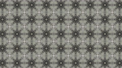 Stock Video Footage of Abstract gray kaleidoscope with flowery shade or shape
