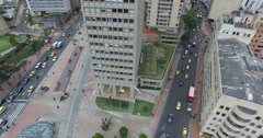 Aerial of the streets in downtown Bogota Stock Footage