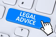 Legal advice compliance consultation information info company on internet - stock photo