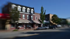 Time Lapse and Tilt Shift Shot of Traffic in downtown Beaver, PA - stock footage