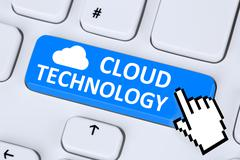 Stock Photo of Cloud computing technology storage online digital on internet