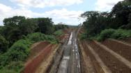 Stock Video Footage of Deforestation for hydroelectric dam