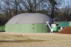 Renewable energy with biogas production - stock photo
