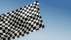Checkered Racing Flag - stock footage