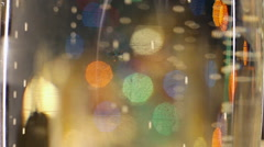 Bubbles inside a glass of champagne Stock Footage