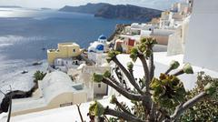 Aegean coast on santorini Stock Photos