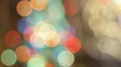Christmas lights random blinks Stock Footage