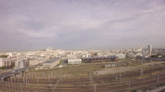 Paris, 10th arrondissement - Aerial view of Paris - Gare du nord district Stock Footage