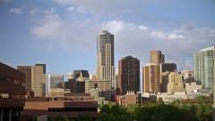 Denver Skyline with Four Seasons Hotel 4K Stock Footage