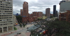 Aerial of downtown Bogota Stock Footage