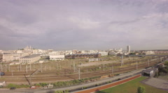 Paris - Aerial view of TGV high speed train - stock footage