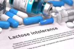 Diagnosis - Lactose Intolerance. Medical Concept. 3D Render - stock illustration