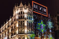 Stock Photo of Christmas illumination of TsUM store in Moscow