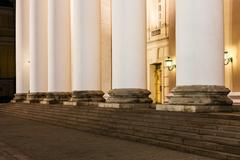 Stock Photo of column of Bolshoi Theater on in Moscow