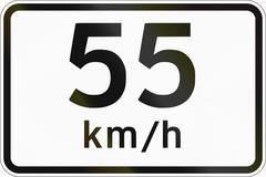 Additional Panel for road sign in the Philippines - Advisory Speed Limit Stock Illustration
