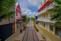 ORANJESTAD, ARUBA - NOVEMBER 05, 2015: Port used for tourism of cruise ships Stock Photos