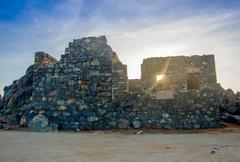 Balashi ruins, Aruba Stock Photos