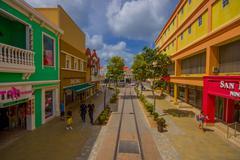 ORANJESTAD, ARUBA - NOVEMBER 05, 2015: Port used for tourism of cruise ships - stock photo