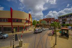 Stock Photo of ORANJESTAD, ARUBA - NOVEMBER 05, 2015:Streets of Aruba Island, downtown with