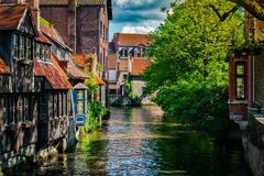 Bruges Brugge town, Belgium Stock Photos