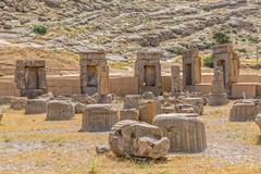 Ruins of Persepolis - stock photo