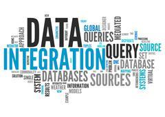 Word Cloud Data Integration - stock illustration