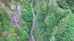 Flight Over A Valley In The Alps Stock Footage