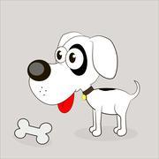 Vector illustration of Cartoon Dog Stock Illustration
