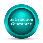Stock Illustration of Satisfaction guarantee icon. Internet button on white background..