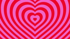 Love hearts background loop valentines day  red pink - stock footage
