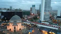 Broad Street, Birmingham Stock Footage