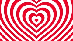 Love hearts background loop valentines day  red white - stock footage