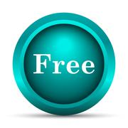 Stock Illustration of Free icon. Internet button on white background..