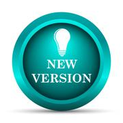 Stock Illustration of New version icon. Internet button on white background..