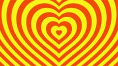Love hearts background loop valentines day  orange yellow - stock footage