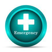 Stock Illustration of Emergency icon. Internet button on white background..