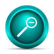 Zoom out icon. Internet button on white background.. - stock illustration
