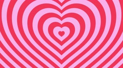 Love hearts background loop valentines day  pink Stock Footage