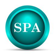 Stock Illustration of Spa icon. Internet button on white background..