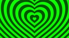 Love hearts background loop valentines day  green - stock footage