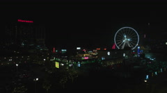 Niagara Falls Ontario Panning Shot of Clifton Hill and Casino. - stock footage