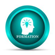 Stock Illustration of Formation icon. Internet button on white background..