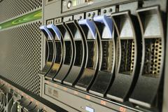 Server and raid storage - stock photo