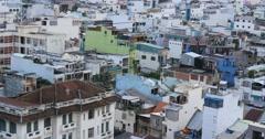 HO CHI MINH / SAIGON, VIETNAM - 2015: City skyline buildings offices apartments - stock footage