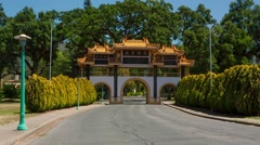 City Of Ten Thousand Buddhas Entrance Stock Footage