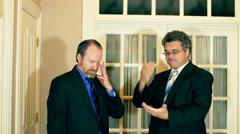 businessmen talking argue arguing frustrated - stock footage