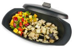 Fresh vegetables mix ready be cooked Stock Photos